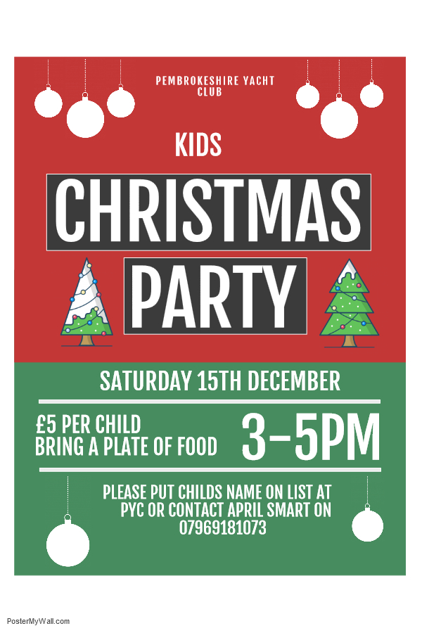 Kids Christmas Party Pembrokeshire Yacht Club